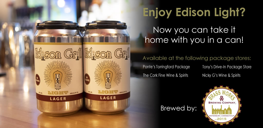 Edison Light Beer Cans