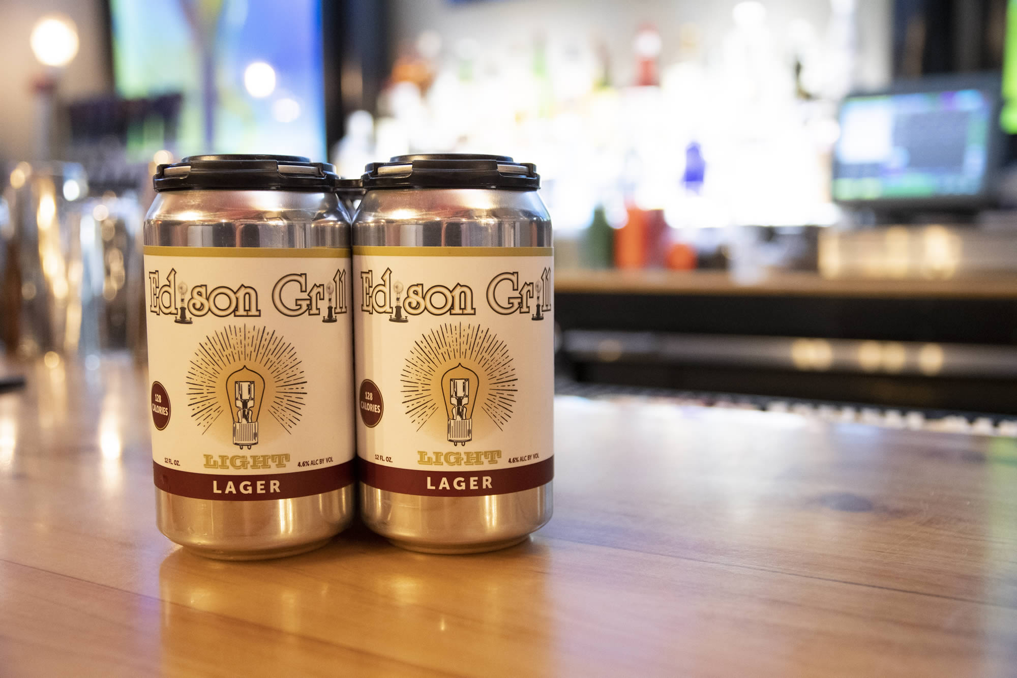 Edison Light Beer By Brass Works Brewery
